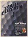 1987 Golfer Greg Norman Spalding Tour Edition Golf Ball on Control Print Ad