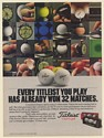 1987 Every Titleist You Play Has Already Won 32 Matches Golf Balls Print Ad