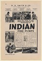 1942 Indian Fire Pumps D.B. Smith & Company Print Ad