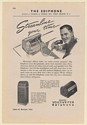 1942 Edison Voicewriter Ediphone Dictation Machine Print Ad