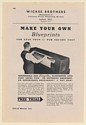 1942 Wickes Brothers Simplex Mercury Vapor-Tube Portable Blueprinter Print Ad