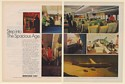 1970 Boeing 747 Superjet Aircraft Step into The Spacious Age 2-Page Print Ad