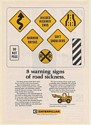 1972 Caterpillar Tractor 8 Warning Signs of Road Sickness Print Ad