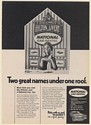 1970 Hilton Livery National Car Rental in Hilton Hotels Counter Girl Print Ad