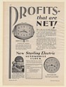 1931 Sterling Electric Automobile Clocks Overhead and Dash Models Print Ad
