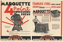 1931 Marquette Tool Mfg Co 4 Point Suspension Press Cushion Bed Double-Sided Ad