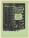 1931 Wallace Barnes Company Springs Source of Good Spring Supply Print Ad