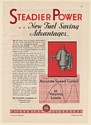 1931 Pickering Governor Model G P Steadier Power Fuel Saving Print Ad