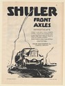 1931 Shuler Axle Company Front Axles for Motor Trucks Print Ad