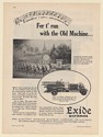 1931 Exide Batteries 1930 Model Ahrens-Fox Fire Engine Print Ad