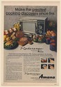 1971 Amana Radarange Model RR-3 Greatest Cooking Discovery Since Fire Print Ad