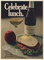 1971 Almaden Champagne Celebrate Lunch Anytime Anyplace Can Be Special Print Ad