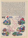 1971 PWA Pacific Western Airlines Seattle Canada Route Map Print Ad