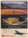 1971 Northwest Orient Airlines 747 Polar Northwest Aloha Express Routes Print Ad