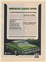 1971 Dodge Charger Topper Custom-Equipped Economy Car Print Ad