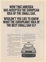 1971 Fiat The Biggest Selling Car in Europe European Idea of Small Car Print Ad