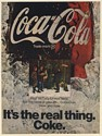 1969 Coke Coca-Cola Family at Christmas Tree Lot It's the Real Thing Print Ad