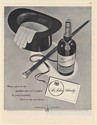 1948 Sir John Schenley Whiskey Bottle Top Hat Cane in the Spotlight Print Ad