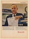 1968 Clinton L Walsh IRS 1040 Income Tax Form Honeywell Computer Print Ad