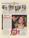 1943 Camel Cigarette First in the Service Soldier and Girl Smoking Print Ad