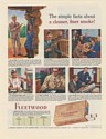 1943 Fleetwood Imperial Cigarette Simple Facts Cleaner Finer Smoke Print Ad