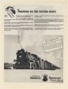 1943 Locomotive 5117 Train Soldiers on the Winter Front American Railroads Ad