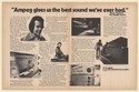 1976 Tommy Overstreet The Nashville Express Ampeg Amps Double-Page Print Ad