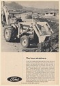 1967 Ford 3500 Tractor with 735 Loader 753 Backhoe Print Ad