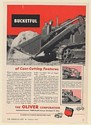 1952 Oliver Model B Crawler Ware Loader Bucketful of Cost-Cutting Features Ad
