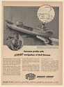 1951 SS Monmouth Tanker Ship Sperry Loran Gyroscope Navigation of Gulf Stream Ad