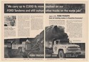 1960 Ford Tandem Truck Cost Less Harry R Kunz Paving Co San Mateo CA 2-Page Ad