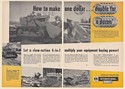1960 IH International Harvester Drott TD-20 4-in-1 Loader Bulldozer 2-Page Ad