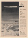 1960 Parker 61 Jet Flighter Pen United Airlines DC-8 Tested Print Ad