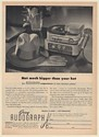 1951 Gray Audograph Dictation Machine Print Ad