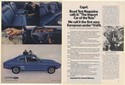 1971 Mercury Capri Sport Coupe Import Car of the Year Sexy European 2-Page Ad