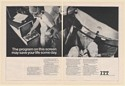1971 Dr Olof P Norlander ITT Patient Data System Medical Operation 2-Page Ad