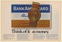 1971 BankAmericard Credit Card Think of It as Money Double-Page Print Ad