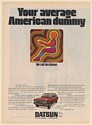 1970 Datsun Homer Your Average American Dummy Print Ad