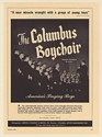 1950 The Columbus Boychoir Photo Booking Print Ad