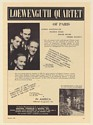1950 Loewenguth Quartet of Paris Photo Booking Print Ad