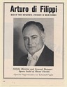 1950 Arturo di Filippi Voice Teacher University of Miami Photo Booking Print Ad