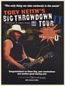 2005 Toby Keith Big Throwdown Tour Clear Channel Photo Promo Print Ad