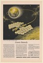 1959 American Bosch Arma Cosmic Butterfly Space Vehicle Frank Tinsley Print Ad