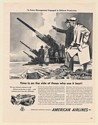 1951 American Airlines Airfreight Defense Production Field Gun Noel Sickles Ad