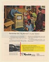 1951 Family Gets New Television Big Moment Wyandotte Chemical Container Print Ad