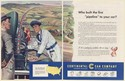 1951 Continental Can Company Oil Can Pipeline to Your Car 2-Page Print Ad