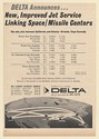 1964 Delta Airlines New Improved Jet Service Linking Space Missile Centers Ad