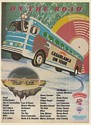 1979 Casablanca on Tour Bus Artist List KISS Village People Cher Trade Print Ad