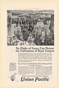 1925 Bryce Canyon Southern Utah Union Pacific Railroad Print Ad