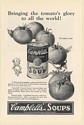 1925 Campbell's Tomato Soup Bringing Tomato's Glory to All the World Print Ad